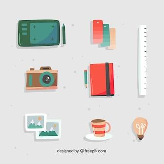 Kolekcja elementów graficznych w stylu wyciągnąć rękę