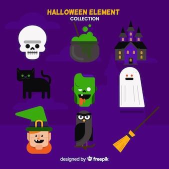 Kolekcja elementów halloween