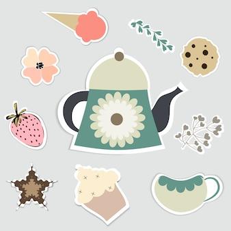 Kolekcja elementów herbaty
