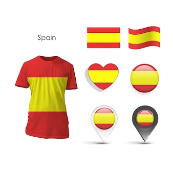 Kolekcja elementów hiszpanii
