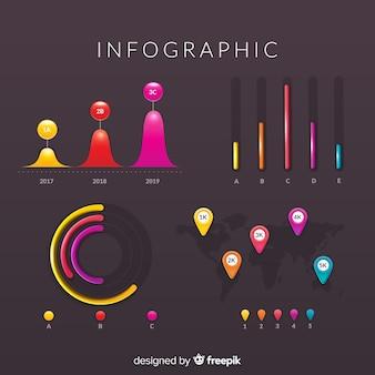 Kolekcja elementów infografic