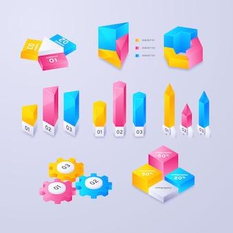 Kolekcja elementów infographic gradientu