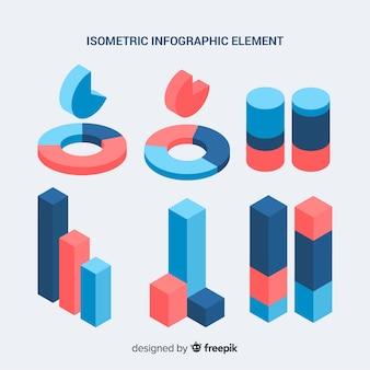 Kolekcja elementów izometryczny infographic