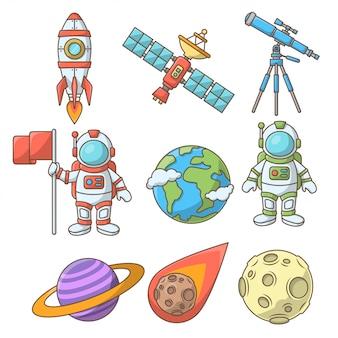 Kolekcja elementów kosmicznych