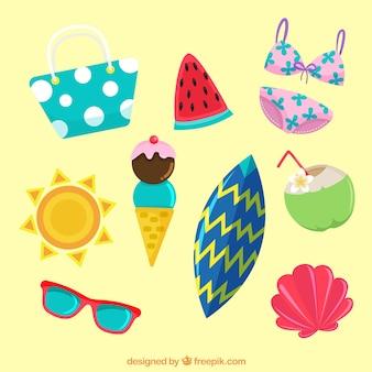 Kolekcja elementów letnich