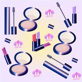 Kolekcja elementów makijażu