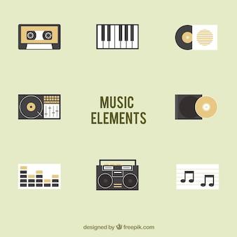 Kolekcja elementów muzycznych