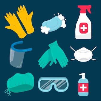 Kolekcja elementów ochrony przed wirusami