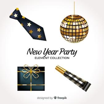 Kolekcja elementów party noworoczne