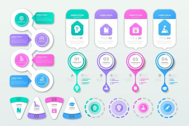 Kolekcja elementów płaskich infographic