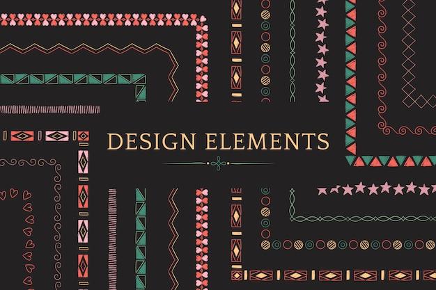 Kolekcja elementów projektu divider line