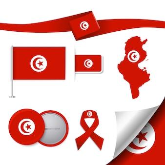 Kolekcja elementów reprezentacji tunezji
