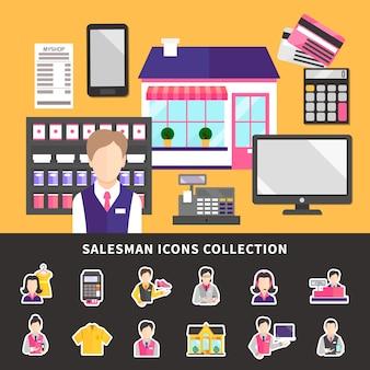 Kolekcja elementów shopworker
