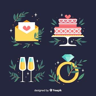Kolekcja elementów ślubnych