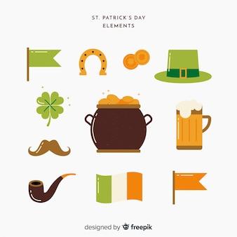 Kolekcja elementów st. patrick's day