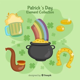 Kolekcja elementów st patrick's day