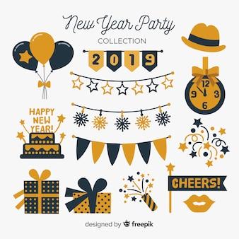 Kolekcja elementów strony nowego roku