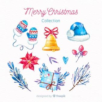 Kolekcja elementów świątecznych