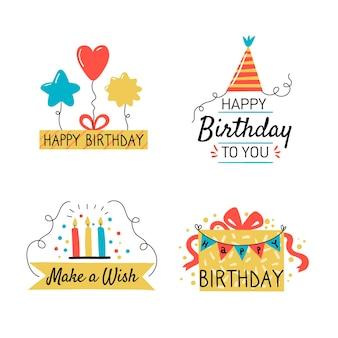 Kolekcja elementów urodzinowych