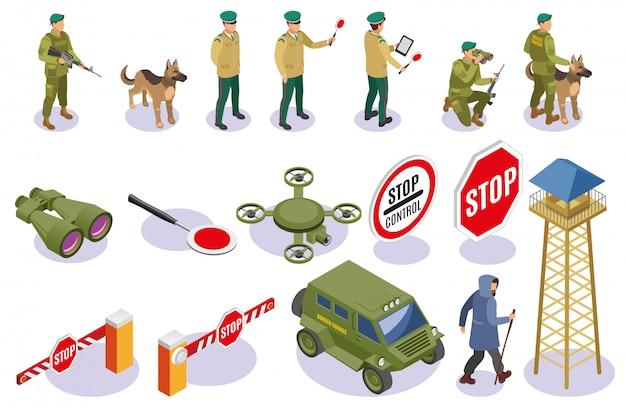 Kolekcja elementów usługi granicznej