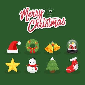 Kolekcja elementów wesołych świąt