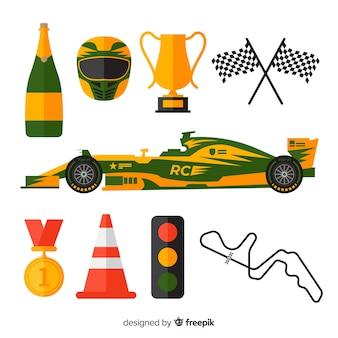 Kolekcja elementów wyścigowych f1