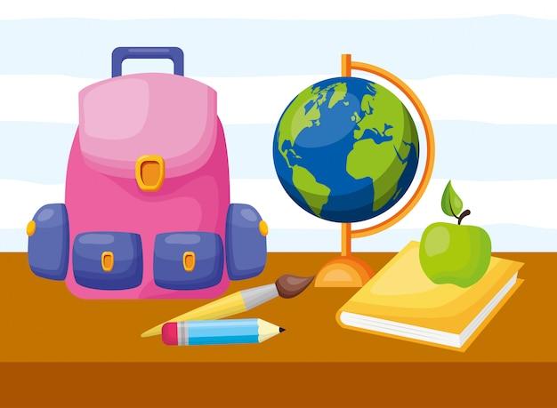 Kolekcja elementów z powrotem do szkoły
