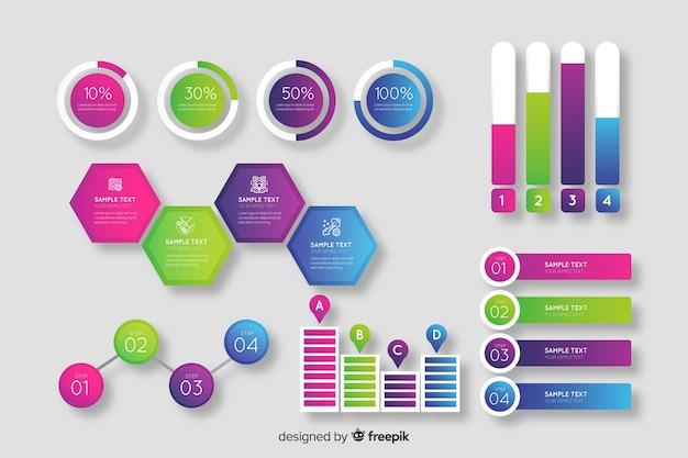 Kolekcja elementu gradientu infographic