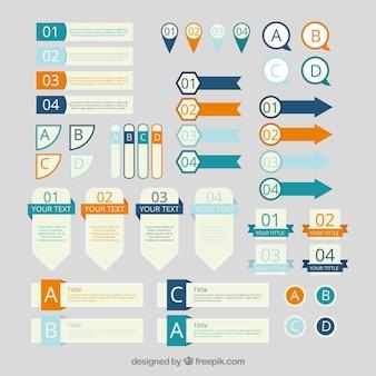 Kolekcja elementu infograficznego w stylu vintage