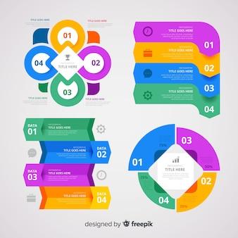 Kolekcja elementu płaski infografikę