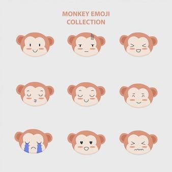 Kolekcja emoji dla małp