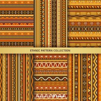 Kolekcja etniczna wzór