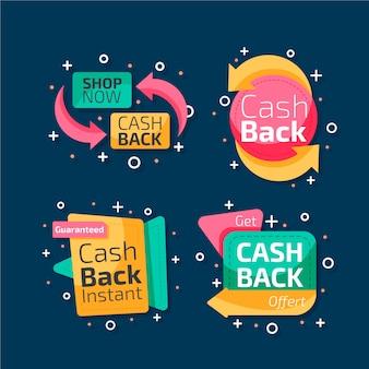 Kolekcja etykiet cashback