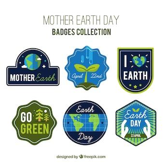 Kolekcja etykiet dzień matki ziemi