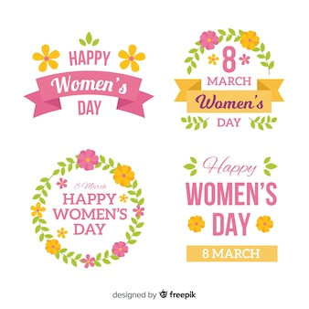 Kolekcja etykiet dzień womans