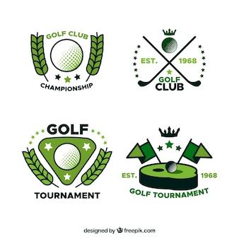 Kolekcja etykiet golf w stylu płaski