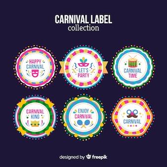 Kolekcja etykiet karnawałowych