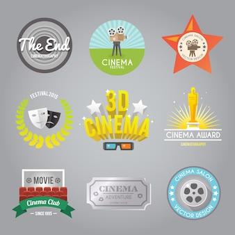 Kolekcja etykiet kinowych