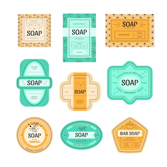 Kolekcja etykiet mydła