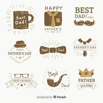 Kolekcja etykiet na dzień ojca
