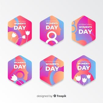Kolekcja etykiet na dzień kobiet