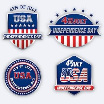 Kolekcja etykiet na dzień niepodległości
