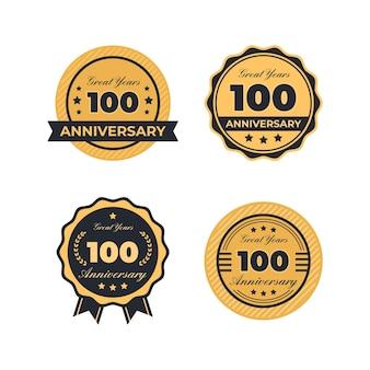 Kolekcja etykiet na setną rocznicę
