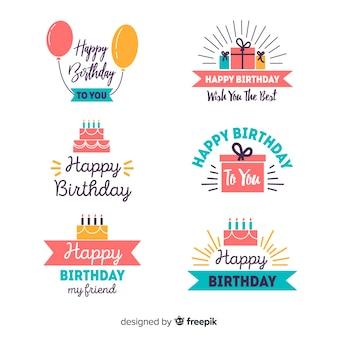 Kolekcja etykiet na urodziny