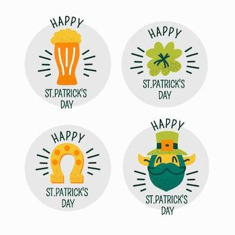 Kolekcja etykiet / odznak z okazji dnia świętego patryka