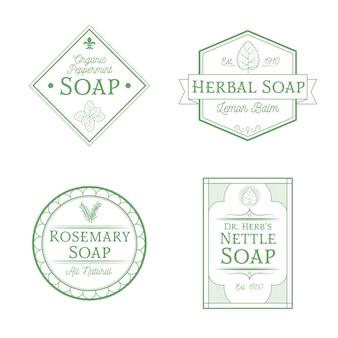 Kolekcja etykiet organicznych mydła