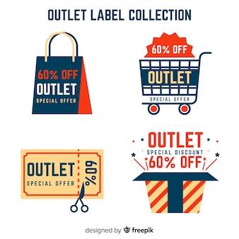 Kolekcja etykiet outlet