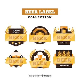 Kolekcja etykiet piwa