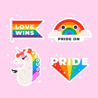 Kolekcja etykiet pride day