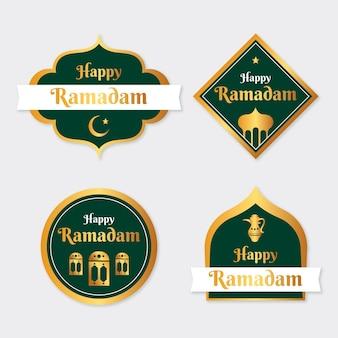 Kolekcja etykiet ramadan